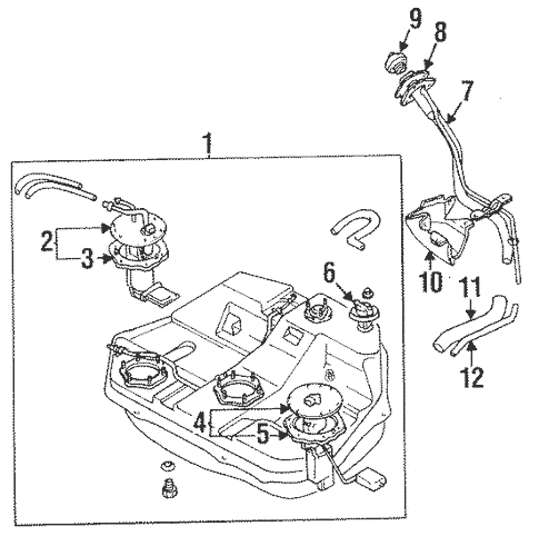 Fuel System Components for 1997 Mitsubishi Eclipse