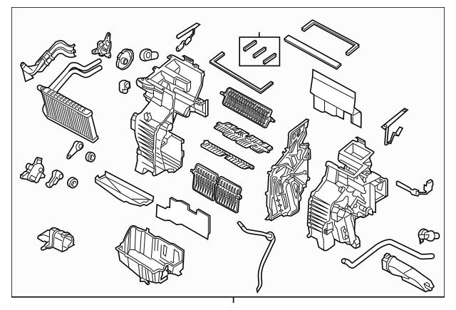 2015-2018 Kia Sedona AC & Heater Assembly 97205-A9110