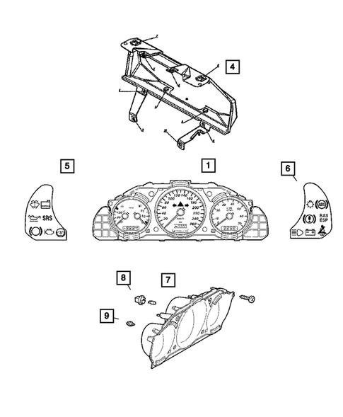 Instrument Panel Cluster for 2008 Chrysler Crossfire