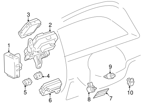 Instrument Panel Components for 1998 Toyota 4Runner