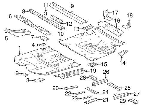 Genuine OEM Floor & Rails Parts for 2016 Toyota Highlander