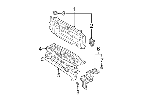 Genuine OEM Rear Body Parts for 2003 Toyota Camry XLE