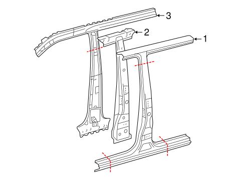 Genuine OEM Center Pillar Parts for 2007 Toyota Tacoma Pre