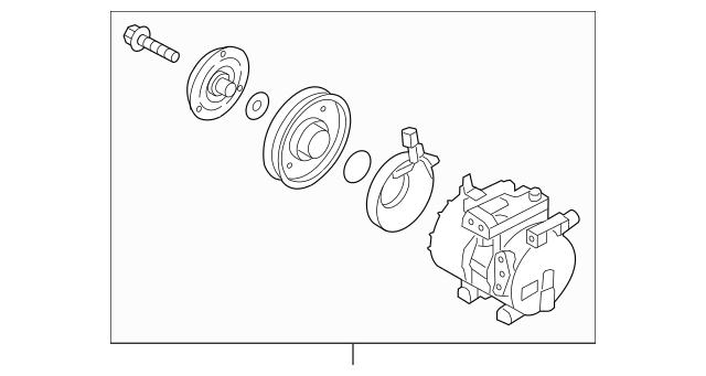 2012-2017 Hyundai Veloster Compressor Assembly 97701-2V000