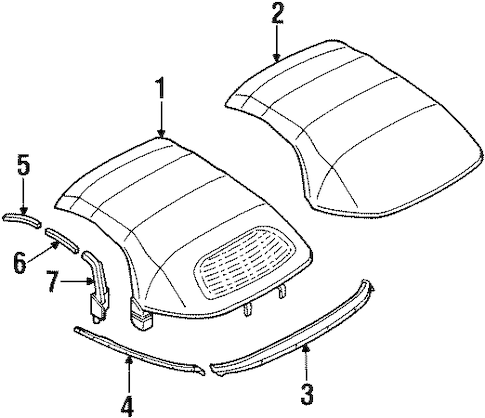 Cover & Components for 1997 Mitsubishi Eclipse