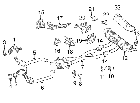 Exhaust Components for 2013 Mercedes-Benz ML 550