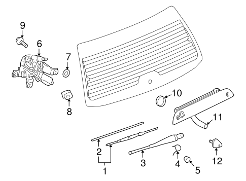 Wiper & Washer Components for 2007 Saturn Vue