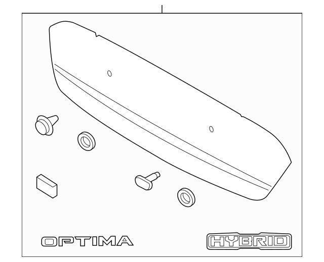 2012-2013 Kia Optima Molding Assembly 87370-4C000
