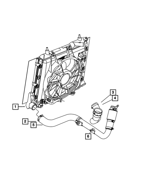Radiator and Related Parts for 2007 Chrysler PT Cruiser