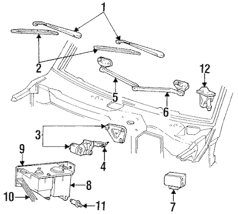 WIPER COMPONENTS for 1995 Ford Bronco