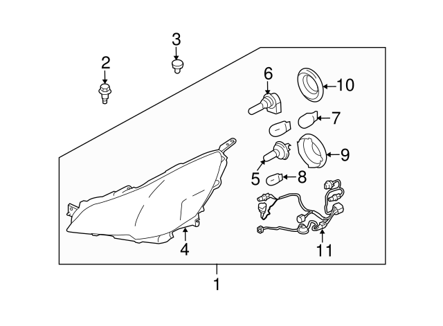 2013 Subaru Outback Headlight Diagram