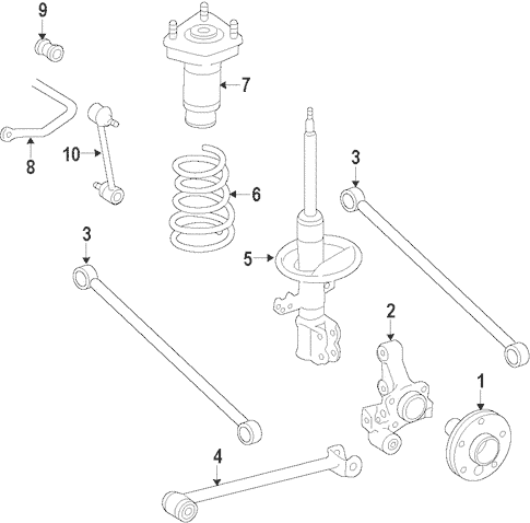 Genuine OEM Rear Suspension Parts for 1999 Toyota Camry