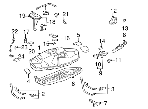 Fuel System Components for 1996 Toyota Tacoma