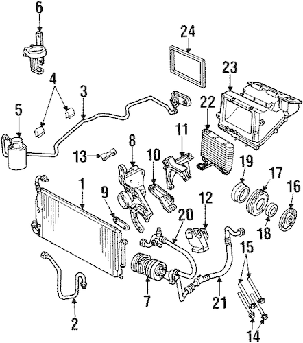 Evaporator Components for 1997 Oldsmobile Achieva