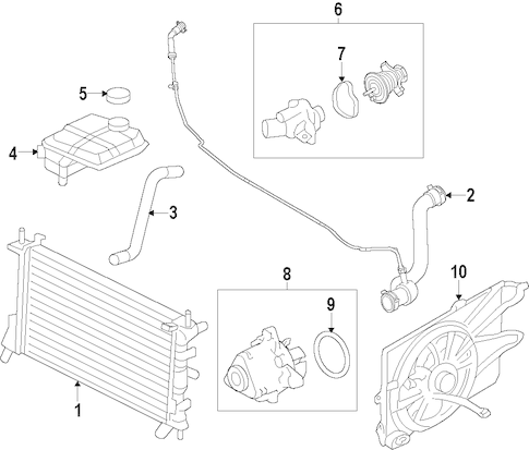 Cooling System for 2009 Ford Focus
