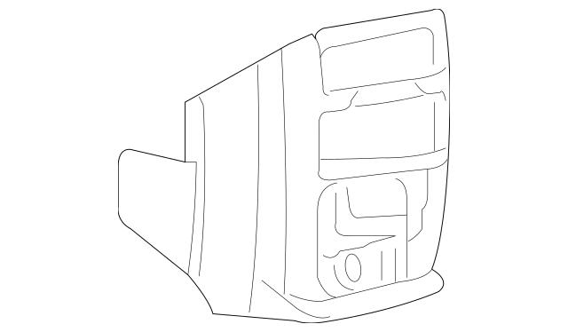 Lower Console for 2014 Dodge Grand Caravan 1QL59HL5AB