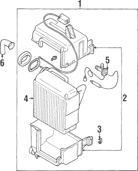 Evaporator Components for 1998 Mitsubishi Mirage