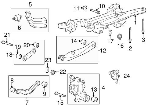 OEM 2013 Chevrolet Malibu Rear Suspension Parts