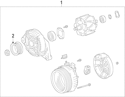 Genuine OEM Alternator Parts for 2014 Toyota RAV4 Limited