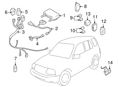 Fuel System Components for 2001 Chevrolet Tracker
