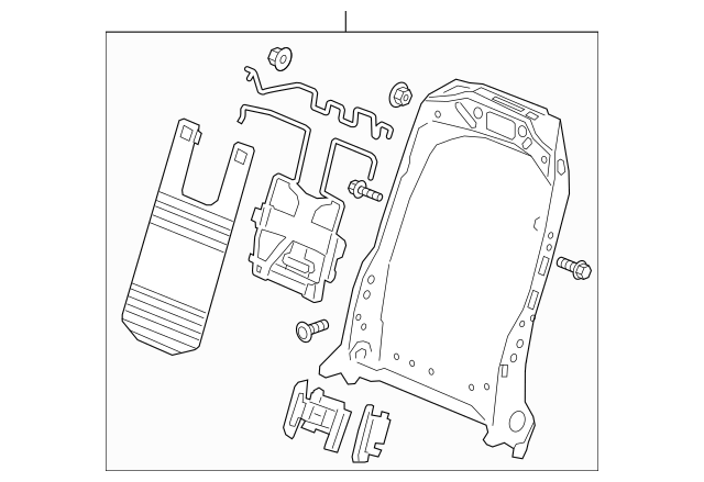 2019-2020 Acura RDX 5-DOOR Cover, L Front Seat-Back