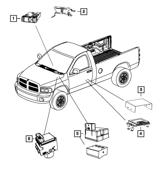 Mopar Anti-Lock Brake System Module 2013 Ram 1500