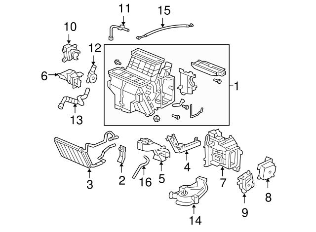 Genuine Honda Temperature Driver Motor Assembly, 79160-SHJ
