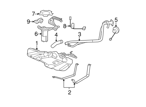 OEM 2011 Chevrolet HHR Fuel System Components Parts