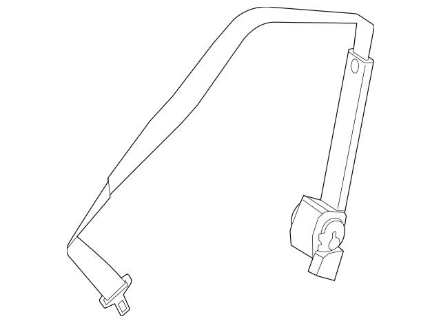 2012-2019 Mercedes-Benz Center Seat Belt 166-860-06-85