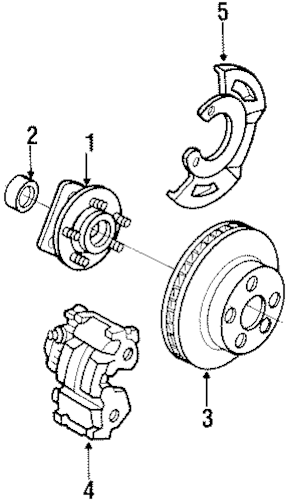 OEM FRONT BRAKES for 1996 Chevrolet Lumina APV
