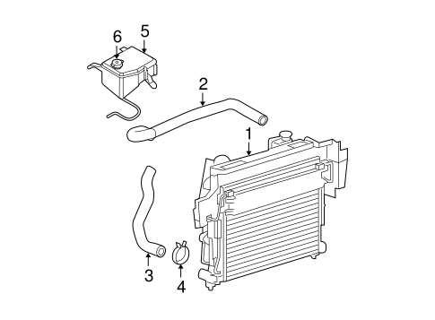 Radiator & Components for 2009 Jeep Grand Cherokee Parts