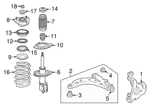 Suspension Components for 2005 Pontiac Grand Prix