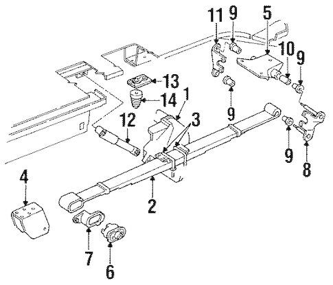 REAR SUSPENSION for 1995 Chrysler Town & Country