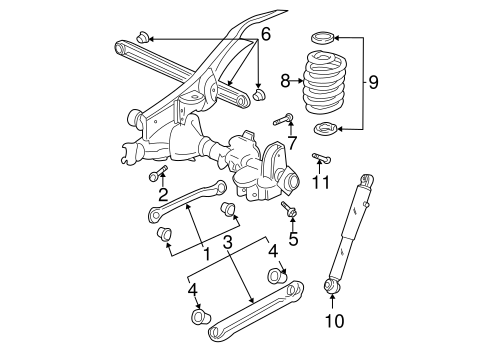 OEM 2001 Chevrolet Tahoe Rear Suspension Parts
