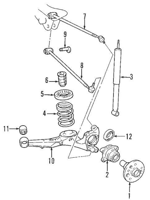 rear suspension for 2004 hyundai santa
