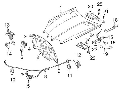 Hood & Components for 2007 Mercedes-Benz SLK 280
