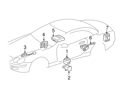 Anti-Theft Components for 2005 Mercedes-Benz SL 65 AMG