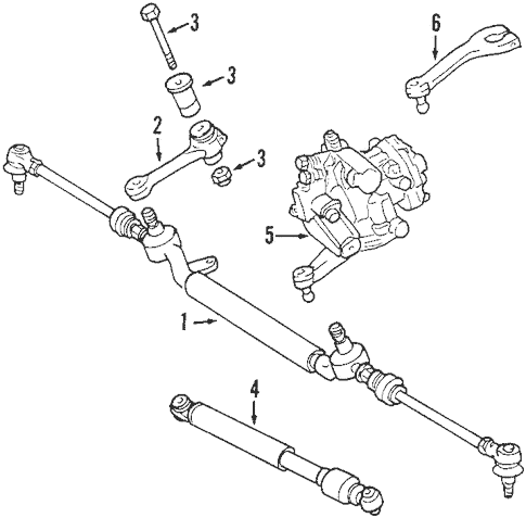 Steering Gear & Linkage for 2002 Mercedes-Benz SLK 32 AMG