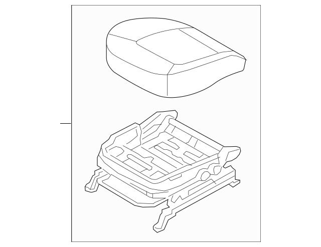 2011-2013 Kia Sportage Cushion Assembly 88104-3W240EAN
