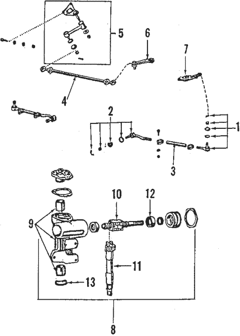 Genuine OEM Steering Gear & Linkage Parts for 1987 Toyota
