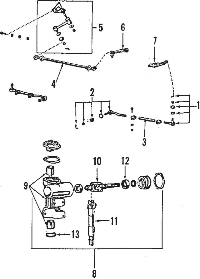 1984-1989 Toyota Land Cruiser Center Link 45047-60H00