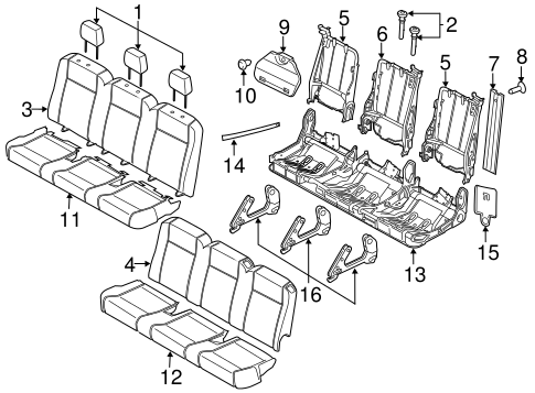 REAR SEAT for 2015 Ford Transit-250