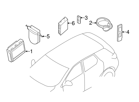 ENTERTAINMENT SYSTEM COMPONENTS for 2015 Nissan Pathfinder