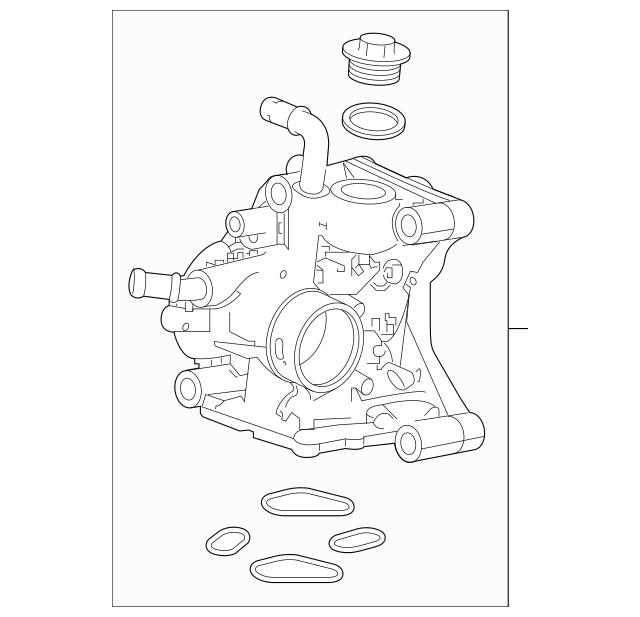 2017-2019 Honda CIVIC 5-DOOR Passage, Water 19410-RPY-G00