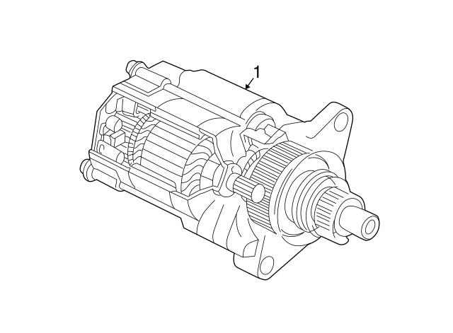 2003-2006 Acura MDX 5-DOOR Starter Motor Assembly 06313