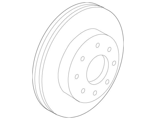 2009-2014 Acura TL SEDAN Disk, Front Brake (17IN) 45251