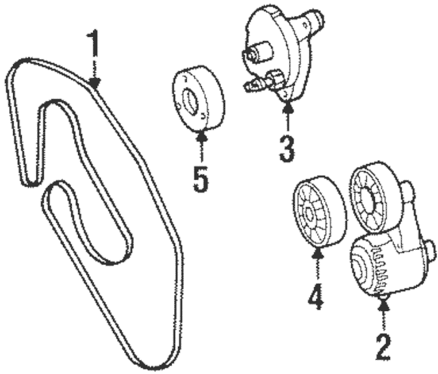 1993-2004 Mercedes-Benz Tension Pulley 119-200-14-70