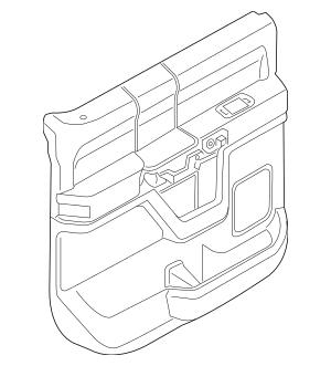 Genuine OEM 2015-2018 Ford F-150 Door Trim Panel GL3Z