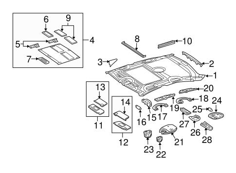 Mercedes Ml320 Interior Trim Parts Diagram