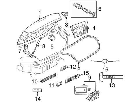 Lid & Components for 2005 Chrysler Sebring Parts
